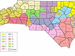 This map shows the new congressional districts drawn during the Feb. 18 redistricting session.
