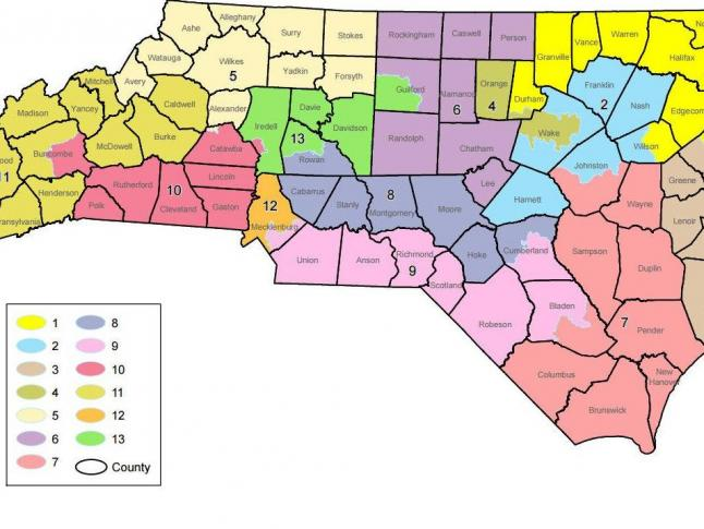 Right To Work States Map 2016.Court Throws Out Nc Congressional Map Again Wral Com