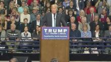 Despite protesters, Trump draws packed Fayetteville crowd