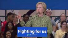 IMAGES: Clinton promises TLC for public schools