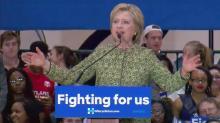 Hillary Clinton in Durham