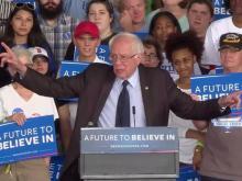 Sanders campaigns in Charlotte