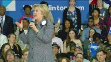 Clinton in friendly terriroty at Charlotte rally