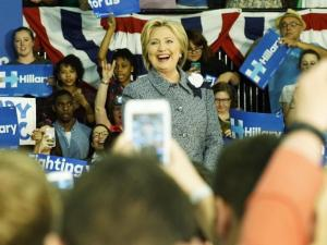 Hillary Clinton campaigned in Charlotte on March 14, 2016.