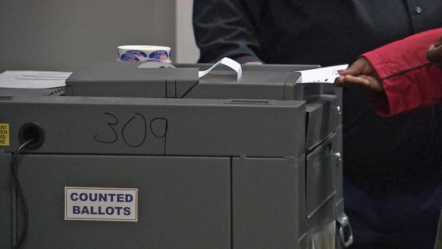 Voters cast ballots at the Wake County Commons Building in the North Carolina primary on March 15, 2015. (Photo by Jamie Munden)