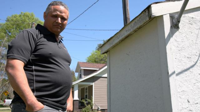 At his home on Leonard Road in Salisbury, Marcos Albarran's well has one of the highest levels of hexavalent chromium among wells tested by state regulators (Tyler Dukes/WRAL).