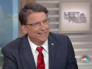 "Gov. Pat McCrory appeared on NBC's ""Meet the Press"" on April 17, 2016, to discuss House Bill 2, which sets North Carolina's discrimination policy."