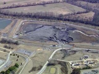 Coal ash basin