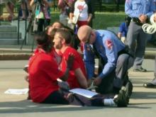 Raw: Teachers arrested outside State Capitol