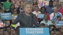 Clinton discusses economy in Raleigh campaign stop