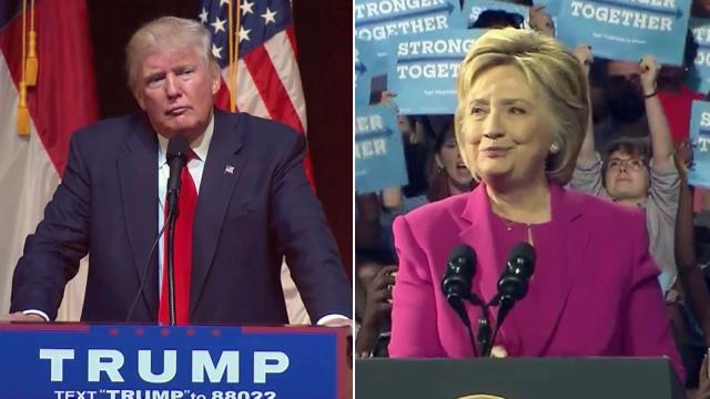 Republican presidential contender Donald Trump and Democratic presidential contender Hillary Clinton