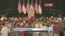 Crowds gather to hear Trump, Pence speak in Winston-Salem