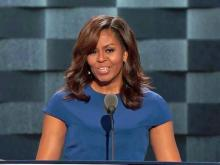 Michelle Obama discusses Clinton's public service