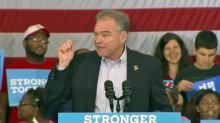 Democratic VP nominee Kaine talks jobs in Greensboro