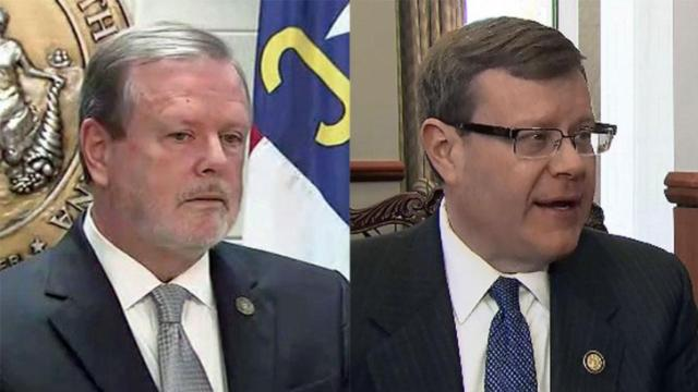 North Carolina Senate leader Phil Berger and House Speaker Tim Moore