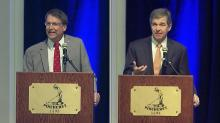 IMAGE: McCrory touts record; Cooper says NC needs new leadership