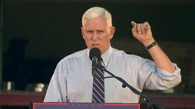 Mike Pence in Leland