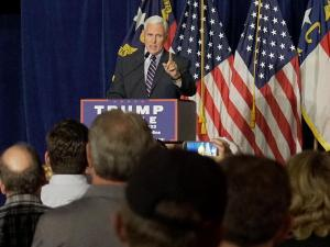 With 70 days remaining until Election Day, Indiana Gov. Mike Pence returned to North Carolina Tuesday night for a rally in Winston-Salem.