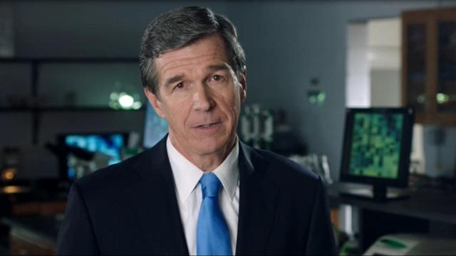This is a still image from a campaign commercial Roy Cooper aired re: the NC crime lab.