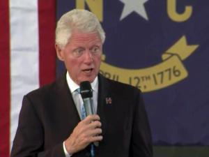 Bill Clinton in Durham