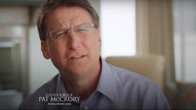 "This is a still image from Gov. Pat McCrory's ""Common Sense"" ad, which references HB2."