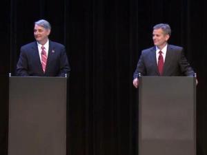 Sen. Buck Newton and Sen. Josh Stein