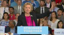 Clinton speaks at Wake Tech