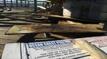 IMAGES: Oak Island pier, damaged in Hurricane Matthew, should be closed, inspectors say
