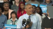 Obama lashes out at Trump during Greensboro rally