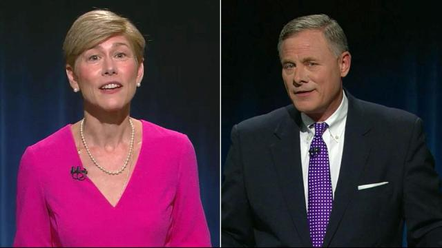 Democrat Deborah Ross and Republican U.S. Sen. Richard Burr debate on Oct. 13, 2016