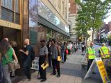 Early voting lines wrap around Wake County Board of Elections