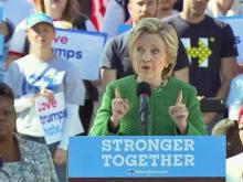 Clinton tackles HB2, Trump in Raleigh speech