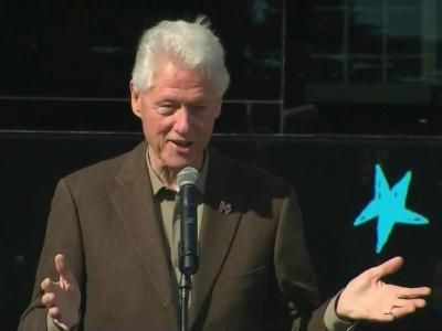 Bill Clinton campaigns for wife in Rocky Mount