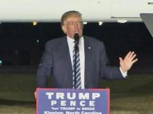 Trump campaigns in Kinston ahead of election