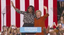 Clinton, Michelle Obama campaign in Winston-Salem