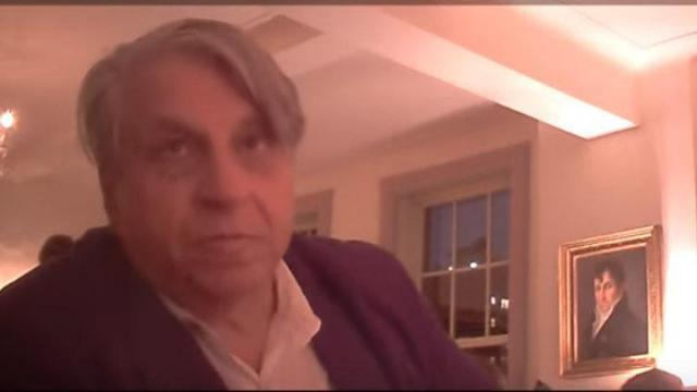 This is a still image of Benjamin Barber pulled from a video by Project Veritas.