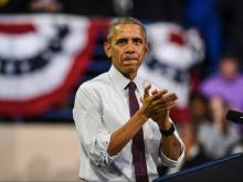 President Barack Obama held a Nov. 4, 2016, rally at Fayetteville State University for Democratic presidential candidate Hillary Clinton.