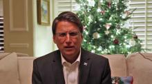 McCrory's videotaped concession speech