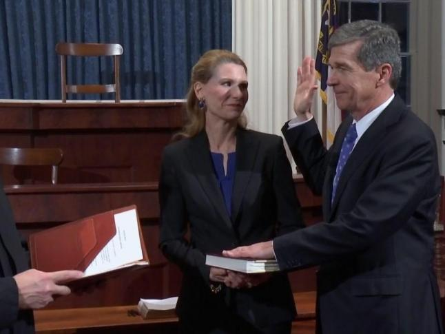 Cooper sworn in as 75th NC governor :: WRAL com