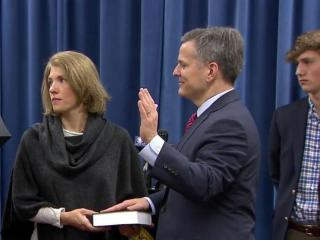 As people around the world rang in 2017 with celebrations, two of North Carolina's highest-profile leaders took their oaths of office.