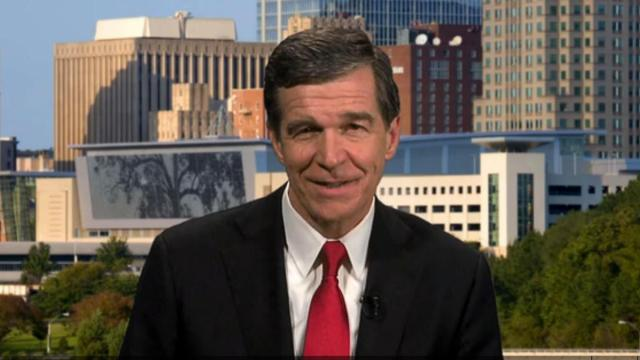 Gov. Roy Cooper talks to MSNBC on March 3, 2017.