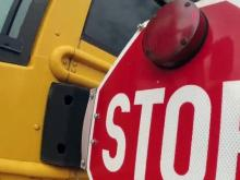 stopped school bus, stop arm