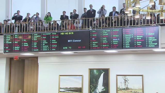 Voting on proposed HB2 repeal