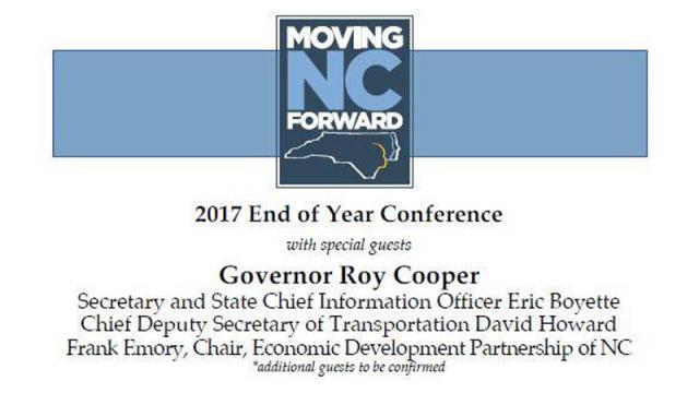Moving NC Forward invitation, December 2017