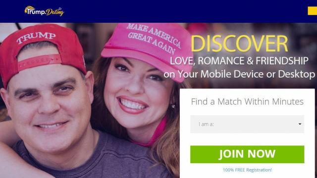 Trump.dating home page