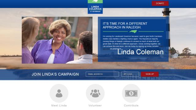Congressional candidate Linda Coleman says a Russian national has purchased the domain name of a website she used in a previous campaign in order to create confusion.