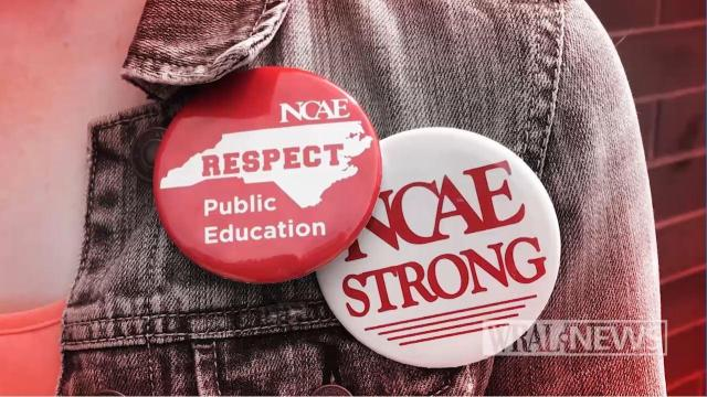 Teacher protest pins