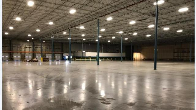Image provided by the Office of the State Auditor. A 200,000 square foot warehouse in Clayton sits largely empty in December, 2017.