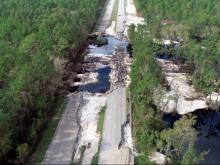 Florence damage to US 421