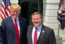 President Donald Trump and Speaker of the NC House Tim Moore